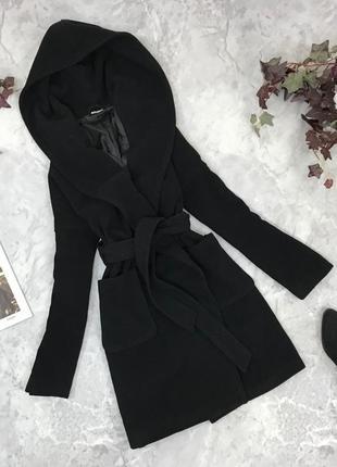 Пальто с капюшоном под пояс  ov1851060 monki