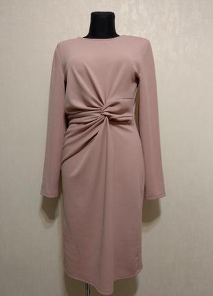 Стильное пудровая платье vero  moda!!!серьги к платью ,качественная бижутерия 100гр.!!!