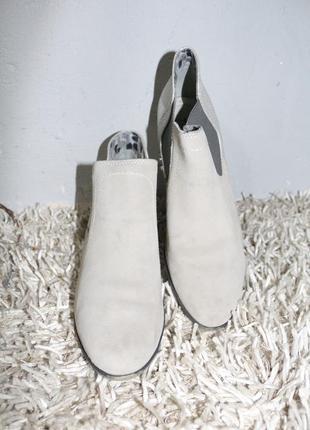 Серый замшевые полусапожки jana3