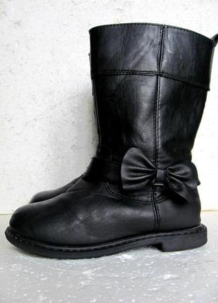 H&m утепленные стильные деми сапоги черные высокие на молнии р.30 19 см