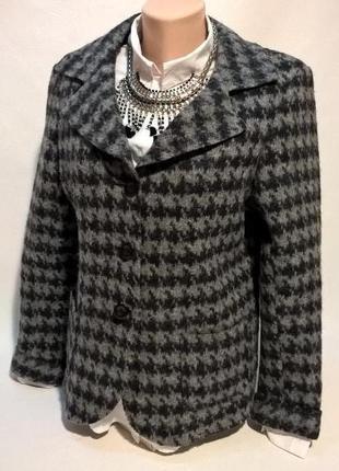 Элегантный шерстяной пиджак жакет деловой стиль