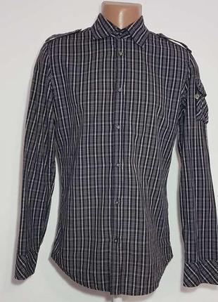 Рубашка diesel, 100% хлопок, m, как новая!