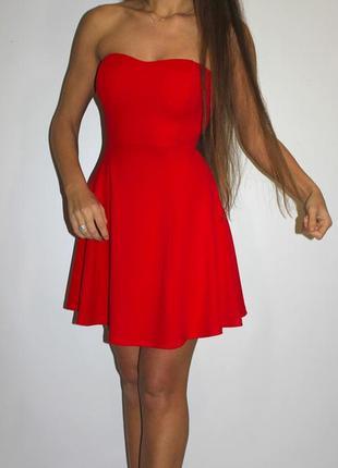 Красное платье (есть голубое ) - красивая спинка открытая с молнией