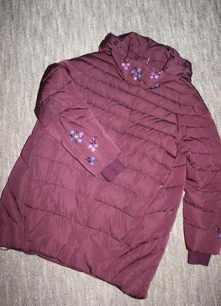 Утеплённая курточка цвета марсала от fine baby cat
