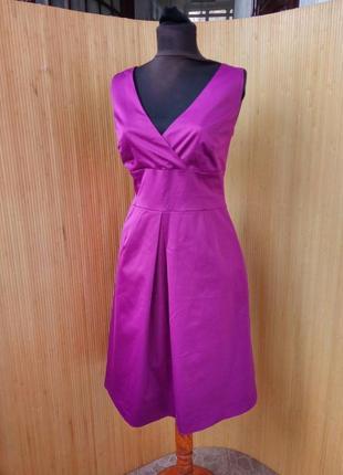 Коктейлтное атласное платье