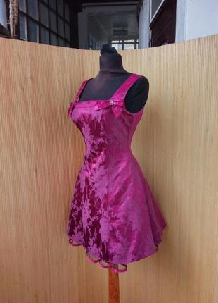 Шёлковое платье с фатином