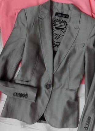 Статусный пиджак..шерсть/шёлк/вискоза♥