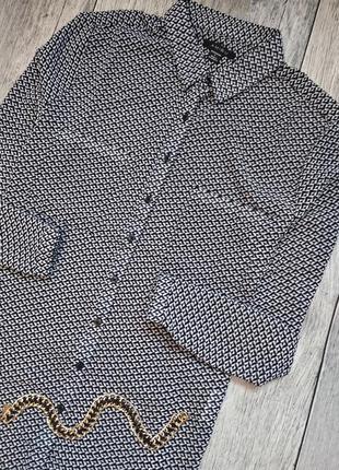 Шифоновая рубашка блуза в актуальный принт от amisu