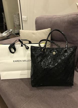 Шкіряна сумка karen millen