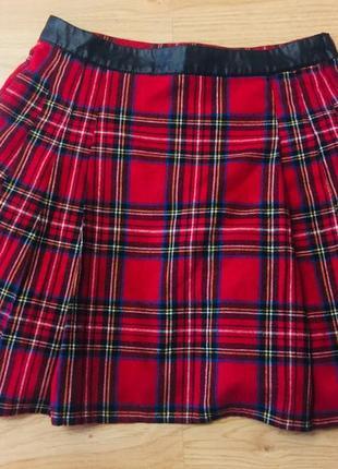 Трендовая юбка в клетку, шотландка