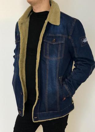 Мужская джинсовая куртка на меху (с мезом)