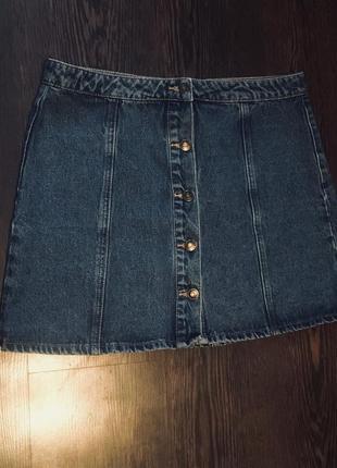 Джинсовая юбка  на пуговицах denim co и много скидок и подарков 🌶🌶🌶4 фото