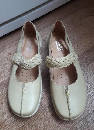 Кожаные туфли мокасины hotter англия 37.5 размер