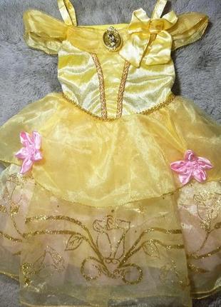 Нарядное платье принцесса белль disney, 2-3 года
