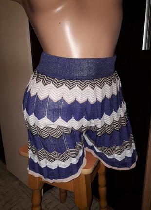 Шорты-юбка с люрексом