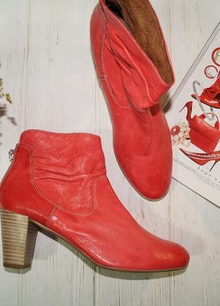 (38/25см) jones нубук/кожа стильные ботинки, полусапожки