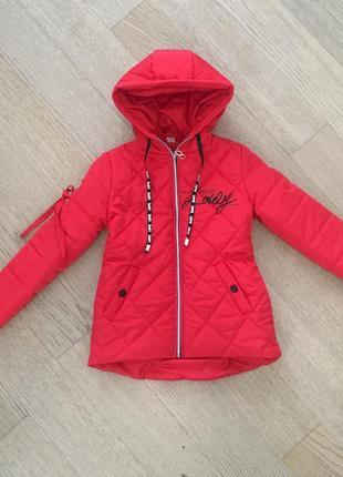Весенняя куртка на девочку размеры 134-152, коллекция весна 2019