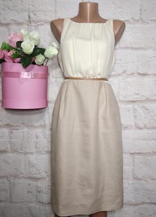 Платье миди нарядное льняное р 12 london