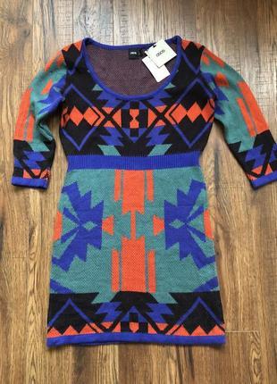 Стильное/вязаное платье в этно стиле asos