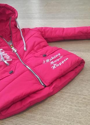 Весенняя куртка на девочку размеры 116-134, весна 2019, есть замеры2