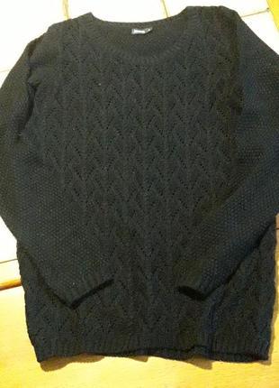 Джемпер кофта черный р38-40