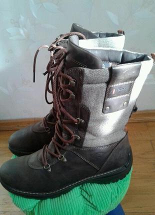 Р.41 ecco (оригинал) зимние ботинки, сапоги.