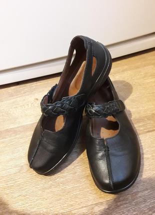 Кожаные туфли мокасины hotter англия  40 размер