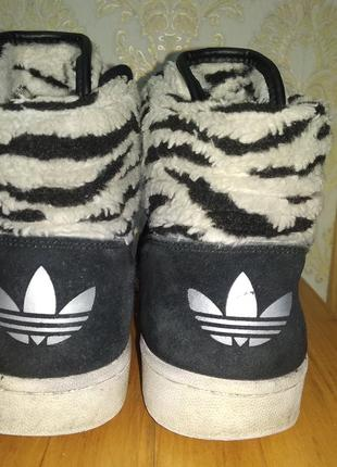 Мужские кожаные зимние кроссовки adidas (оригинал) 41,5 р.3 фото