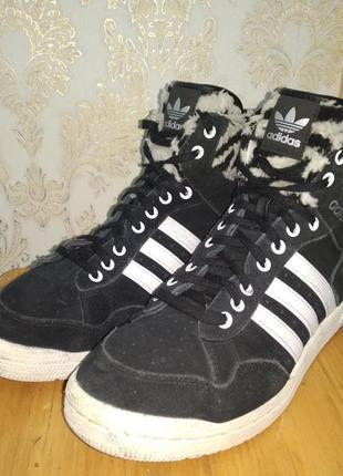 Мужские кожаные зимние кроссовки adidas (оригинал) 41,5 р.4 фото