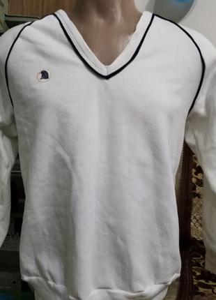 🎩пуловер свитер белый с начесом на рост 170