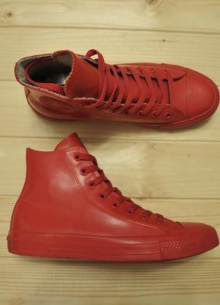 Резиновые кеды унисекс converse chuck taylor all star hi rubber red - 40 - 26 см