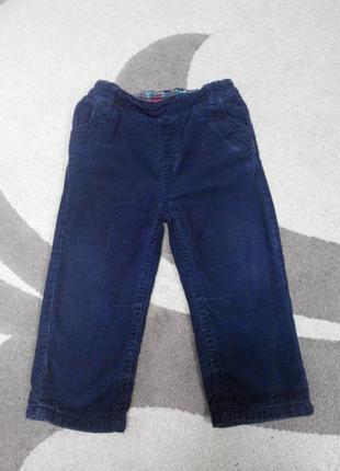 Вельветовые штаны tu 12-18мес.