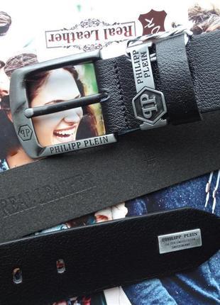 Мужской ремень для джинс из натуральной кожи3 фото