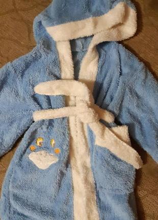 Махровый халат на 2-3 года
