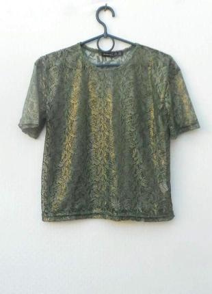Нарядная кружевная летняя блузка топ