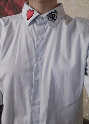Стильная рубашка с патчами