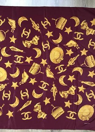 Очень крутой винтажный платок chanel