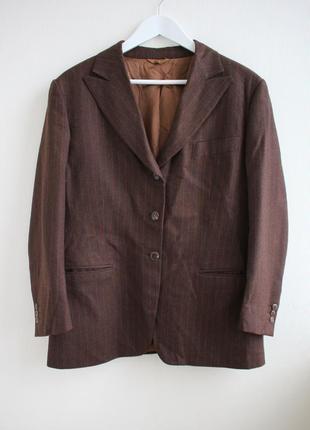 Шерстяной винтажный удлиненный пиджак оверсайз от confitri