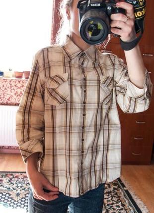 Крутая брендовая клетчатая рубашка yessica