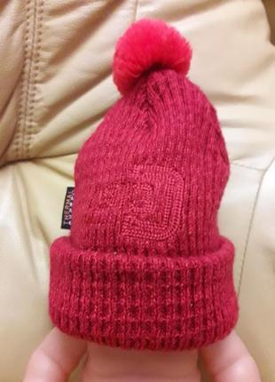 Термо шапка didriksons для малыша до 1 года 70% акрил и 30% шерсть в хорошем состоянии