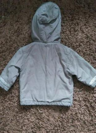 Деми куртка, парка  для мальчика 6-9 месяцев. будет дольше. холодная осень, теплая зима.2