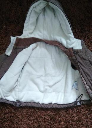 Деми куртка, парка  для мальчика 6-9 месяцев. будет дольше. холодная осень, теплая зима.3