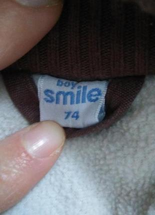 Деми куртка, парка  для мальчика 6-9 месяцев. будет дольше. холодная осень, теплая зима.4