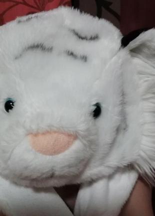 Карнавальный новогодний костюм шапка белого тигра