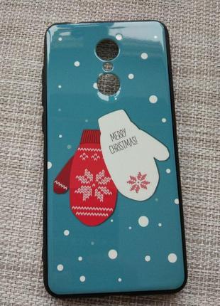 Чехол-накладка новогодний зимний дизайн на xiaomi redmi 5