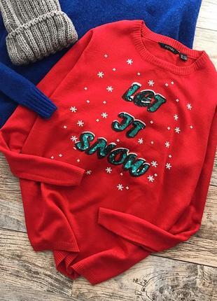Новогодний свитер с пайетками esmara