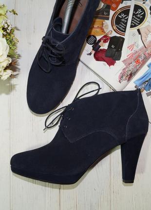 (41/27см) footglove. замша. красивые ботинки, ботильоны на устойчивом каблуке