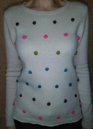 Женский теплый шерстяной свитер (80% шерсть ламы) white stuff