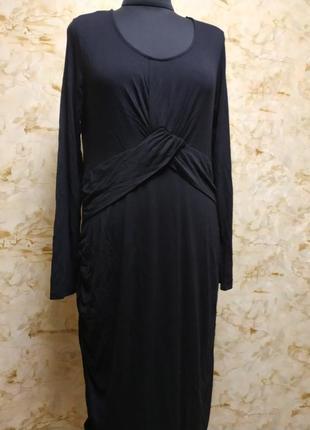 Стильное оригинальное  трикотажное платье, размер 44-46