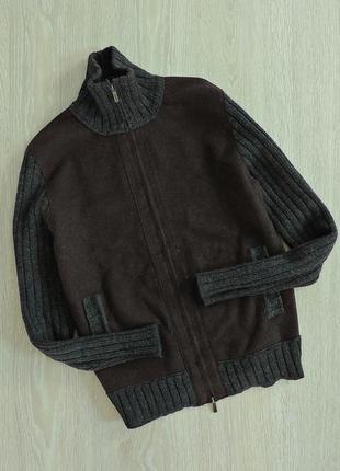 Винтажный шерстяной дизайнерский свитер kenzo